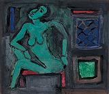 Untitled - S H Raza - Winter Online Auction: Modern Indian Art