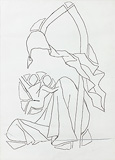 Untitled - M F Husain - 24-Hour Auction: Words & Lines III