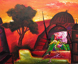 Morning Light - Manu  Parekh - Absolute Auction of Indian Art & Collectibles