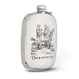 A 'GROUP OF GOLFERS' STERLING SILVER FLASK -    - Absolute Auction of Indian Art & Collectibles