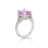 A PURPLE PINK SAPPHIRE RING -    - Absolute Auction of Indian Art & Collectibles