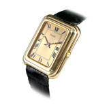 PIAGET: MENS 18 K GOLD WRISTWATCH -    - Absolute Auction of Indian Art & Collectibles