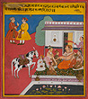 An Illustration from a Poetic Album, Possibly the Sarangadharapaddhati - Indian Miniature Paintings and Works of Art