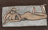 Reclining Nude - Jogen  Chowdhury - Autumn Art Auction