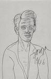 Untitled (Self Portrait Aged 22) - F N Souza - F.N.Souza | Mumbai, Live