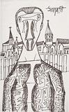 Untitled (Saint in a Landscape) - F N Souza - F.N.Souza | Mumbai, Live
