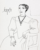 Untitled (Duchess of Urbino, After Titian) - F N Souza - F.N.Souza | Mumbai, Live