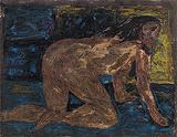 Untitled (Crawling Nude) - F N Souza - F.N.Souza | Mumbai, Live