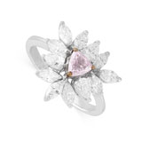 A COLOURED DIAMOND RING -    - Autumn Auction of Fine Jewels and Silver