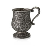 A BALUSTER SILVER MUG, OOMERSI MAWJI & CO. -    - Autumn Auction of Fine Jewels and Silver