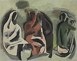 Untitled - M F Husain - Spring Art Auction 2013