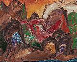 Landscape with Temples - Manu  Parekh - Spring Art Auction 2013