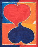Hearts - S H Raza - Spring Art Auction 2013