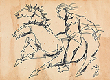 Untitled - M F Husain - Summer Art Auction