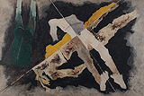 Bodies Drift between You and Me - M F Husain - Summer Art Auction