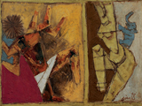 Tandav Nritya - M F Husain - Summer Art Auction
