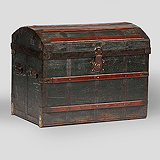 A VINTAGE STEAMER TRUNK, CORBIN -    - Travel and Leisure Auction