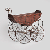 A PERIOD BABY'S PRAM -    - Travel and Leisure Auction