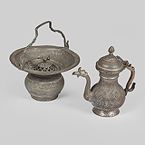 A PERIOD KASHMIRI TASH-T-NARI OR PORTABLE WASHBASIN -    - Travel and Leisure Auction