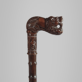 A ROSEWOOD WALKING STICK -    - Travel and Leisure Auction