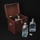 A SET OF PERIOD TRAVEL FLASKS -    - Travel and Leisure Auction