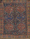 A PERSIAN TRIBAL SHIRAZ CARPET -    - Travel and Leisure Auction
