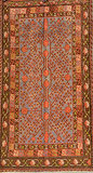 AN UZBEK TRIBAL SAMARKAND CARPET -    - Travel and Leisure Auction