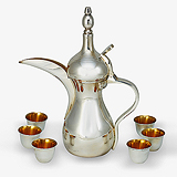 A STERLING SILVER TURKISH COFFEE SET, ASPREY -    - Travel and Leisure Auction