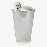 AN ART DECO STERLING SILVER COCKTAIL SHAKER -    - Travel and Leisure Auction