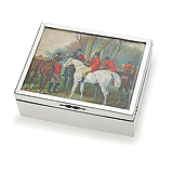 AN EDWARD VII 'FOX HUNT' JEWELRY BOX, STROKES & IRELAND -    - Travel and Leisure Auction