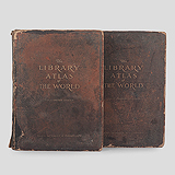 THE LIBRARY ATLAS OF THE WORLD, VOLUME I & II -    - Travel and Leisure Auction