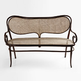 A PERIOD BENTWOOD LOVESEAT -    - 24-Hour Online Auction: Elegant Design