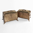 A NEAR PAIR OF BRASS CHESTS - 24-Hour Online Auction: Elegant Design