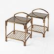 A PAIR OF ART DECO-STYLE BRASS SIDE TABLES - 24-Hour Online Auction: Elegant Design
