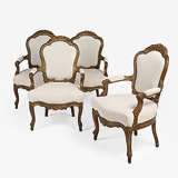 A SET OF FOUR FRENCH-STYLE ARM CHAIRS -    - 24-Hour Online Auction: Elegant Design