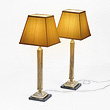 A PAIR OF BRASS TABLE LAMPS - 24-Hour Online Auction: Elegant Design