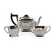 A SILVER TEA SET, A. L. DAVENPORT LTD. - 24-Hour Online Auction: Elegant Design