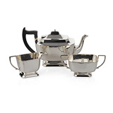 A SILVER TEA SET, A. L. DAVENPORT LTD. -    - 24-Hour Online Auction: Elegant Design