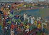 View from Malabar Hill - S H Raza - Modern Evening Sale | Mumbai, Live