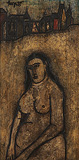 Nude in a city background - F N Souza - Modern Evening Sale   Mumbai, Live
