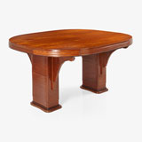 A DROP-LEAF ART DECO DINING TABLE -    - LIVE Auction Celebrating 20th Century Design