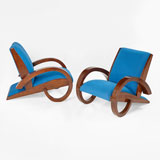 A PAIR OF ART DECO CLUB CHAIRS -    - LIVE Auction Celebrating 20th Century Design