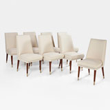 A SET OF EIGHT ART DECO DINING CHAIRS -    - LIVE Auction Celebrating 20th Century Design