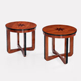 A PAIR OF CIRCULAR ART DECO COFFEE TABLES -    - LIVE Auction Celebrating 20th Century Design