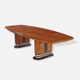A STUNNING DOUBLE PEDESTAL ART DECO DINING TABLE -    - LIVE Auction Celebrating 20th Century Design