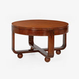 AN ART DECO COFFEE TABLE WITH BALL FEET -    - LIVE Auction Celebrating 20th Century Design