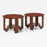 A PAIR OF OCTAGONAL ART DECO COFFEE TABLES -    - LIVE Auction Celebrating 20th Century Design