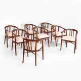 A SET OF EIGHT DINING CHAIRS -    - LIVE Auction Celebrating 20th Century Design