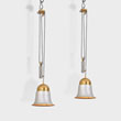 A PAIR OF ADJUSTABLE MID-CENTURY CEILING LAMPS - LIVE Auction Celebrating 20th Century Design