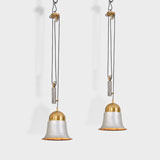 A PAIR OF ADJUSTABLE MID-CENTURY CEILING LAMPS -    - LIVE Auction Celebrating 20th Century Design